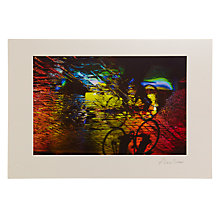 Buy Gallery One, Alex Saberi - Cycling Soho's Rainbow Mounted Print, A2 (42 x 59.5cm) Online at johnlewis.com