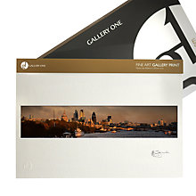 Buy Gallery One, Gregg Sedgwick - View from Waterloo Bridge Mounted Print, A3 (29.7 x 42cm) Online at johnlewis.com