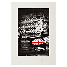 Buy Gallery One, James Dominé - Union Jack Vespa Mounted Print, A3 (42 x 29.7cm) Online at johnlewis.com