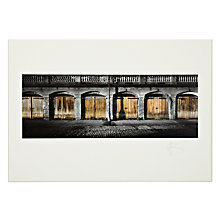 Buy Gallery One, Gregg Sedgwick - Six Boathouses Mounted Print, A2 (42 x 59.5cm) Online at johnlewis.com
