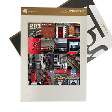 Buy Gallery One, Ben Mecklenburgh - Richmond Red Mounted Print, A3 (42 x 29.7cm) Online at johnlewis.com