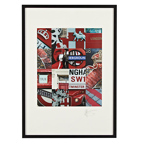 Buy Gallery One, Gregg Sedgwick - London Red Framed Print, A3 (42 x 29.7cm) Online at johnlewis.com