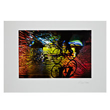 Buy Gallery One, Alex Saberi - Cycling Soho's Rainbow Mounted Print, A3 (29.7 x 42cm) Online at johnlewis.com