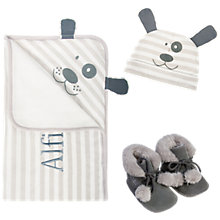 Buy My First Years 3-Piece Dog Gift Set, Grey Online at johnlewis.com