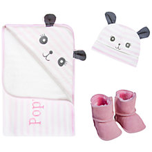 Buy My 1st Years 3-Piece Panda Gift Set, Pink Online at johnlewis.com