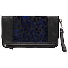 Buy Reiss Arlo print Clutch, Blue Online at johnlewis.com