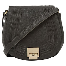 Buy Reiss Lena Satchel Bag, Graphite Online at johnlewis.com