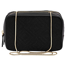 Buy Reiss Janey Zip Around Embossed Pouch Bag, Black Online at johnlewis.com