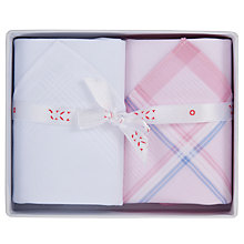 Buy Derek Rose Boxed Cotton Handkerchiefs, Pack of 2 Online at johnlewis.com