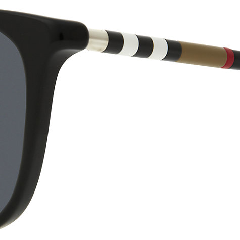 Buy Burberry BE4144 Square Sunglasses, Black Online at johnlewis.com