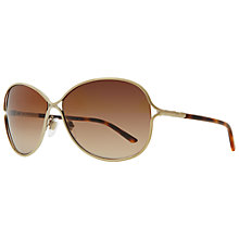 Buy Burberry BE3066 11293D Oval Shaped Metal Framed Sunglasses Online at johnlewis.com
