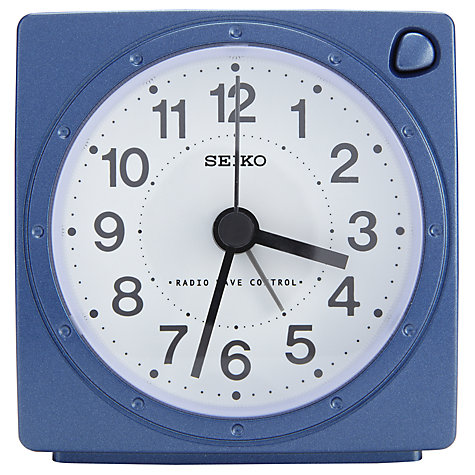 Buy Seiko Radio Controlled Alarm Clock, Blue Online at johnlewis.com