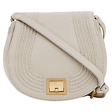 Buy Reiss Lena Corded Trim Satchel Bag, Off White Online at johnlewis.com