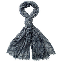 Buy Fat Face Baroque Tile Print Scarf, Blue Online at johnlewis.com