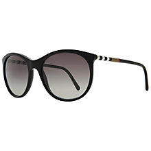 Buy Burberry  BE4145 300111 Round Sunglasses, Black Online at johnlewis.com