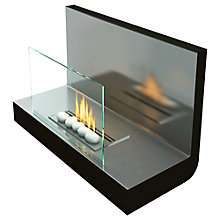 Buy Imagin Bancroft Bioethanol Fireplace, Silver Online at johnlewis.com