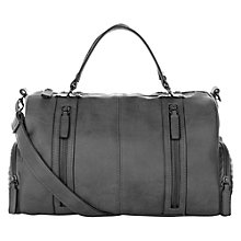Buy Warehouse Biker Bowling Bag, Light Grey Online at johnlewis.com
