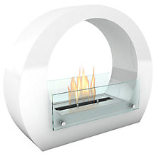 Buy Imagin Boston Bioethanol Fireplace, White Online at johnlewis.com