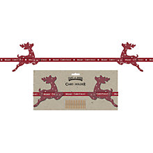 Buy East of India Reindeer Christmas Card Holder, Red Online at johnlewis.com