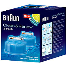 Buy Braun Clean & Renew Refill Cartridges - 2 Pack Online at johnlewis.com