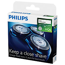 Buy Philips HQ6/50 Shaving Heads Online at johnlewis.com