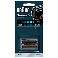 Buy Braun 52B Series 5 Foil and Trimmer Head Cassette Online at johnlewis.com