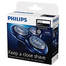 Buy Philips RQ10 Triple-Track Replacement Shaving Heads Online at johnlewis.com