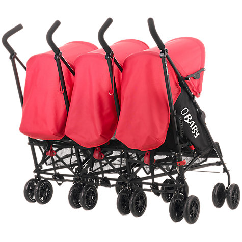 Buy Obaby Mercury Triple Buggy, Black/Red Online at johnlewis.com