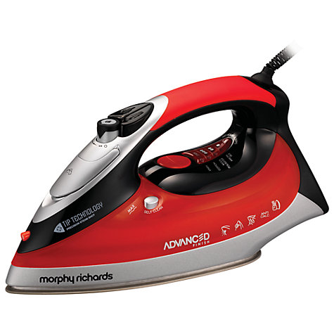 Buy Morphy Richards 300001 Advanced Finish Perfect Temperature Steam Iron, Red Online at johnlewis.com