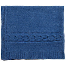 Buy Olivier Baby Cashmere Blanket/Shawl, French Blue Online at johnlewis.com