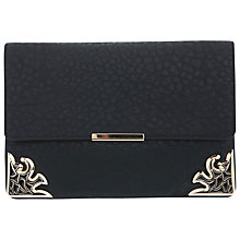 Buy Miss Selfridge Art Deco Corner Clutch Handbag, Black Online at johnlewis.com