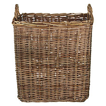 Buy John Lewis Croft Collection Unpeeled Rattan Log Basket Online at johnlewis.com