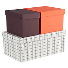 Buy Hay Storage Boxes, Set of 3, Grid Online at johnlewis.com