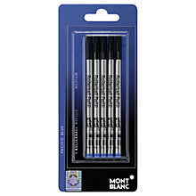 Buy Montblanc Blister Rollerball Refills, Pack of 5, Pacific Blue Online at johnlewis.com