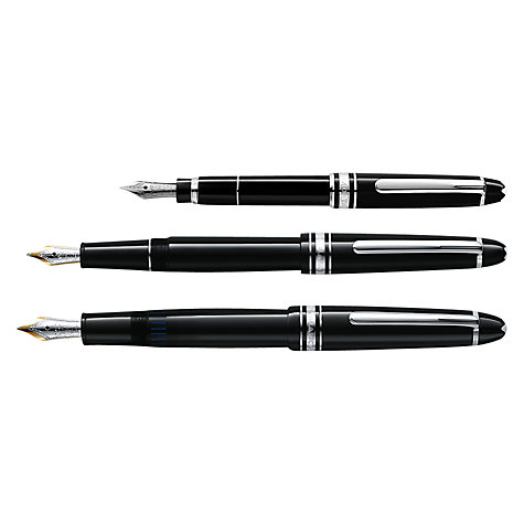 Buy Montblanc Meisterstück Platinum Line Hommage W.A. Mozart Fountain Pen, Small Size Online at johnlewis.com