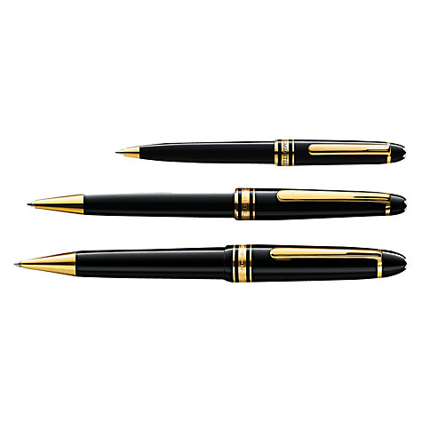 Buy Montblanc Meisterstück Hommage W.A. Mozart Ballpoint Pen, Small Size, Black Online at johnlewis.com