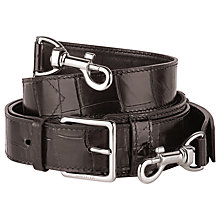 Buy Montblanc Meisterstück Leather Shoulder Strap, Mocha Online at johnlewis.com