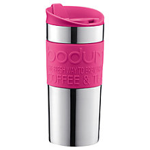 Buy Bodum Travel Mug, 0.35L, Pink Online at johnlewis.com