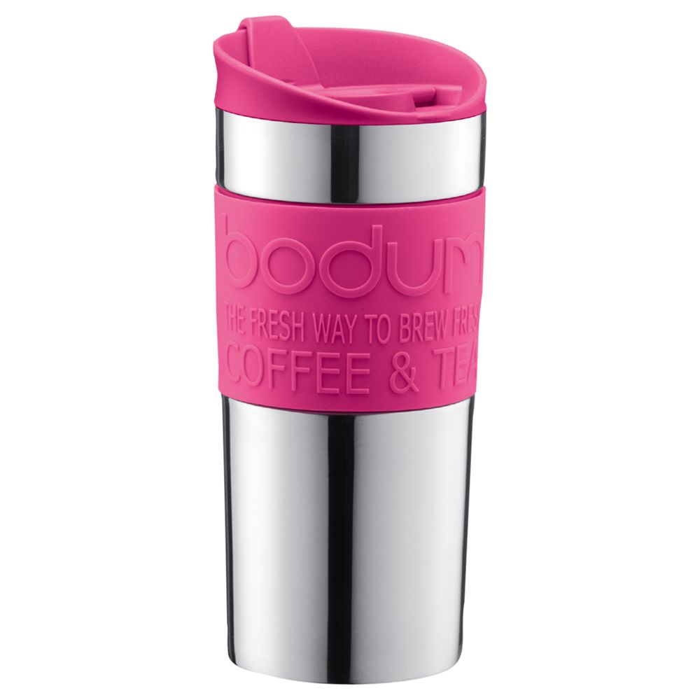 Bodum Travel Mug, 0.35L, Pink