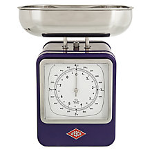Buy Wesco Steel Retro Kitchen Scale, Purple Online at johnlewis.com