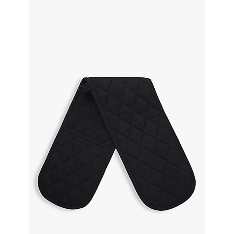 Buy John Lewis The Basics Double Oven Glove, Black Online at johnlewis.com