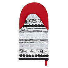 Buy House by John Lewis Small Spots Oven Mitt, Red / Black Online at johnlewis.com