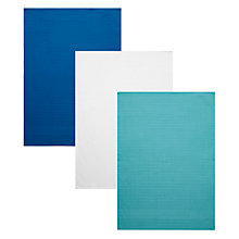 Buy House by John Lewis Waffle Tea Towels, Set of 3 Online at johnlewis.com