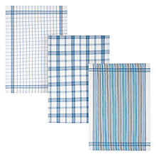 Buy John Lewis Check Tea Towels, Set of 3 Online at johnlewis.com