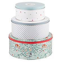Buy John Lewis Country Cake Tins, Set of 3 Online at johnlewis.com