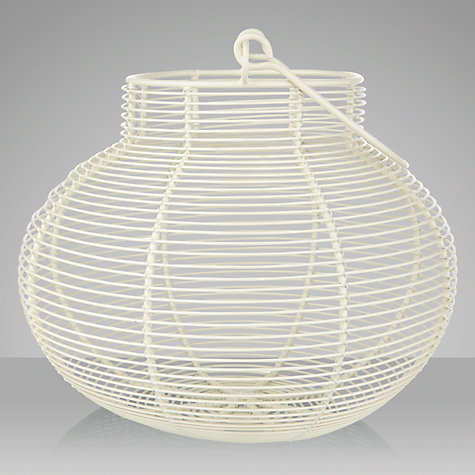 Buy John Lewis Wire Egg Basket, Cream Online at johnlewis.com