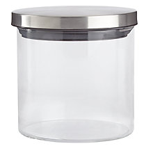 Buy House by John Lewis Glass Storage Jar, Small Online at johnlewis.com