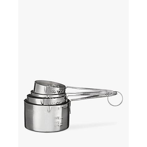 buy john lewis metal measuring cups set of 4 john lewis. Black Bedroom Furniture Sets. Home Design Ideas