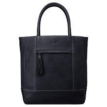 Buy O.S.P OSPREY The Loreto Leather Tote Bag, Navy Online at johnlewis.com