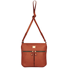 Buy Modalu Pippa Crossbody Bag, Dark Tan Online at johnlewis.com